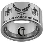 12mm Pipe Tungsten Carbide U.S. Air Force Retired Master Sergeant Design.