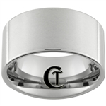 12mm Tungsten Carbide Pipe Satin Finish Ring