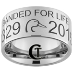 Build Your Own Custom 12mm Pipe Tungsten Carbide Duck and Banded For Life Design