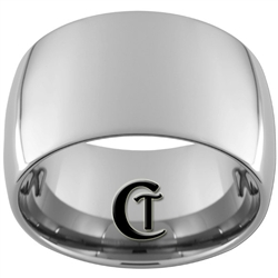 14mm Tungsten Carbide Dome Polish Ring