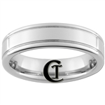 6mm Pipe 2-Grooved Tungsten Carbide Ring