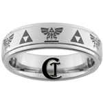 6mm Pipe One-Step Satin Finish Tungsten Carbide Legend of Zelda Design