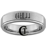 6mm One Step Pipe Satin Tungsten Carbide Custom Ring Design