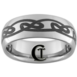 **Clearance** 8mm Dome Tungsten Carbide Celtic Design - Limited Sizes