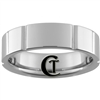 **Clearance** 7mm Side Grooved Pipe Tungsten Carbide Ring -Limited Sizes - 13