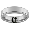 **Clearance** 6mm Beveled 1 Step Tungsten Carbide Ring -Limited Sizes - 9