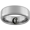 **Clearance** 8mm Rounded Beveled Tungsten Carbide Ring - Size 9 1/2