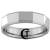 **Clearance** 6mm Beveled Tungsten Carbide Faceted Ring - Size 11