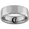 **Clearance** 7mm Beveled Tungsten Carbide Faceted Ring - Size 7 1/2