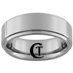 **Clearance** 7mm Pipe 1-Step Tungsten Carbide Ring -Limited Sizes - 5.5