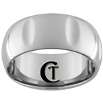 **Clearance** 10mm Side Grooved Dome Tungsten Carbide Ring - Size 10