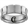 **Clearance** 8mm Side Grooved Concaved Tungsten Carbide Ring - Sizes 9, 10