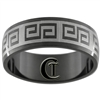 8mm Black Dome Stainless Steel Celtic Design Ring - Sizes 8 1/2, 9, 10, 12 1/2