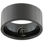 11mm Black Pipe Stainless Steel Satin Finish Ring - Limited Sizes