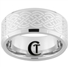 10mm Beveled White Tungsten Carbide Celtic Design