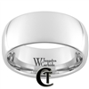 10mm Dome White Tungsten Carbide Polished Ring