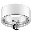 10mm Pipe White Tungsten Carbide Polished Ring