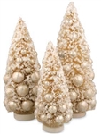 Winter Ivory Bottle Brush Trees by Bethany Lowe