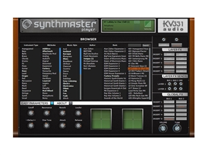 KV331 Audio SynthMaster Player Simplified version of SynthMaster