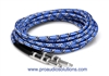 Hosa 3GT-18C2 - Cloth-Woven Guitar Cables - BLU/GRN/WHT - 18 ft.