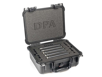 DPA 5006-11A - Surround Kit with 3 x 4006A, 2 x 4011A, Clips, Windscreens in Peli Case