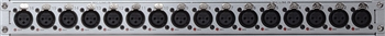 Soundcraft Vi3000 16 XLR in panel labeled 1-16