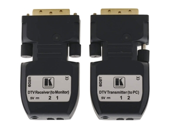 Kramer 602R/T - DVI over Fiber Optic Transmitter & Receiver (Connector Size Tools) - 2LC Cable