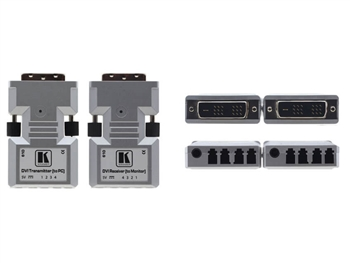 Kramer 610R/T - DVI over Fiber Optic Transmitter & Receiver (Connector Size Tools) - 4LC Cable