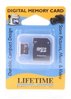 8GB Micro SD Card for Zoom H4N, H1, and Q3, Q3HD  recorders, w/SD Adapter, Lifetime Memory,Kingston
