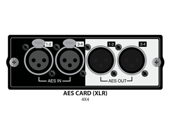 Soundcraft AES/EBU 4 in/4 out XLR, for SoundCraft Si series mixers