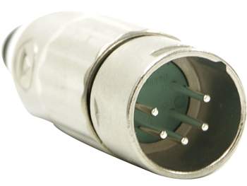 Switchcraft AAA5MZ - AAA Series 5 Pin XLR Male Cable Mount, Silver Pins / Nickel Metal - Bulk