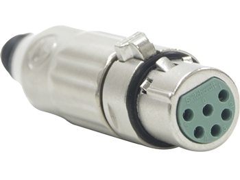 Switchcraft AAA6FZ - AAA Series 6 Pin XLR Female Cable Mount, Silver Pins / Nickel Metal - Bulk