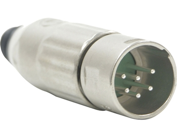 Switchcraft AAA6MZ - AAA Series 6 Pin XLR Male Cable Mount, Silver Pins / Nickel Metal - Bulk