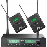 MIPRO ACT-312B-ACT-32T2 Band 5ND (566-590 mHz) , Half-rack dual channel frequency agile receiver with two bodypack transmitters and two MU-53LX lapel mics
