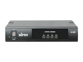 MIPRO AD-808, AD-808 UHF 4-channel active antenna combiner system for MI-808T/R inner ear monitor systems