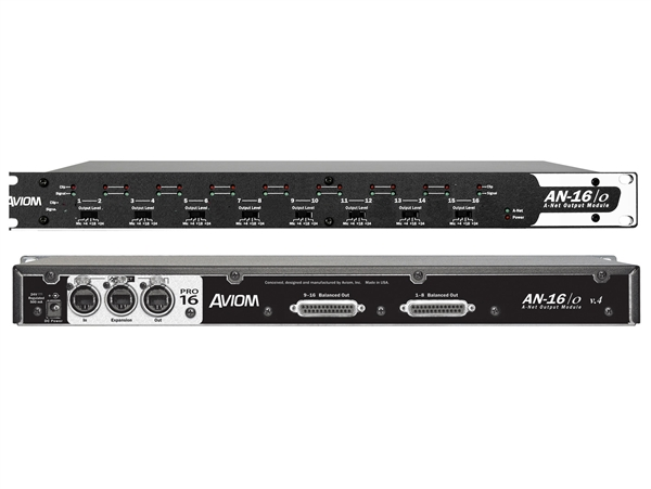 Aviom AN-16/o v.4 - 16-Channel Mic and Line Level Output Module (4 output levels)
