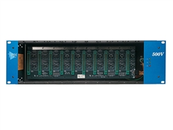 API 500VPR 10 Slot Vertical Module Rack w/ Power Supply