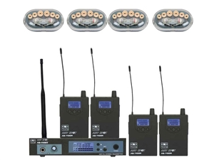 Galaxy Audio AS-1106-4 In-Ear Wireless Monitor Band Pack with (4) pairs EB-6 Earbuds