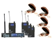 Galaxy Audio AS-1110-4 In-Ear Wireless Monitor Band Pack with (4) EB-10 Earbuds