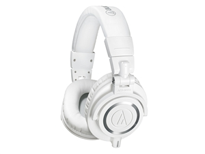 Audio-Technica ATH-M50XWH - Closed-back dynamic monitor headphones, detachable cables, white