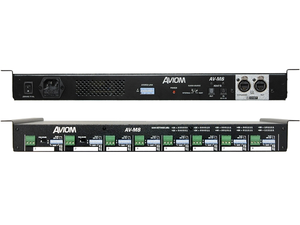 Aviom AV-M8 - 8-Channel Mic-Level Input Module