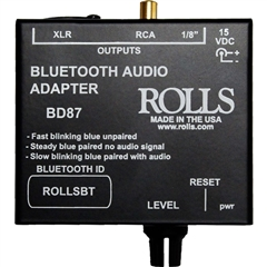 Rolls BD87 Bluetooth receiver and DI Audio Adapter