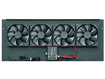 Middle Atlantic BGR-276FT, Integrated 276 CFM DC Fan Top, 4 Fans, Fits Any BGR, Black