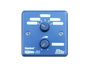 BSS BLU-3, 5 position source/preset selector, level control (UK) wall controller