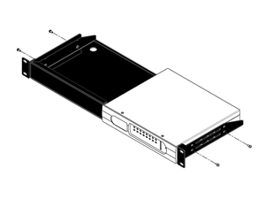 BSS Rack Mount Kit for up to two BLU-BIB / BLU-BOB devices (1U)