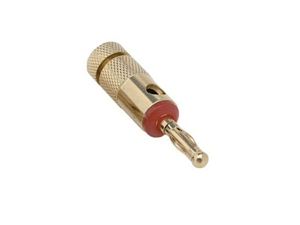 Hosa BNA-050RD Bulk - Single Banana Plug - Red - Gold Plated - without Retail Packaging