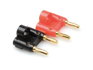 Hosa BNA-100 Dual Banana Plug - 2 pcs (1 Red - 1 Black)