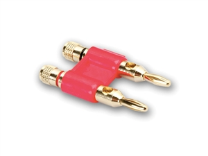 Hosa BNA-260RD Bulk - Large Dual Banana Plug - Red - without Retail Packaging