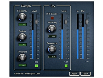 Boz Digital Little Foot - subtle to extreme low end plug-in
