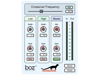 Boz Digital Mongoose - collapsing bass frequencies to mono